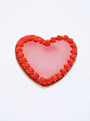 Red heart-shaped biscuit