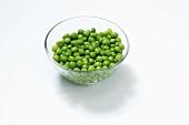 Freshly shelled peas in a dish