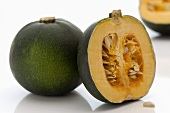 South African gem squash, whole and halved