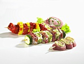Marinated kebabs for grilling