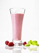 Honey and raspberry shake