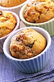 Macadamia and apricot muffins