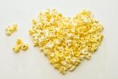 Herz aus Popcorn