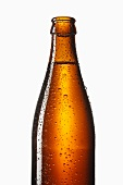 Bottle of beer with drops of water