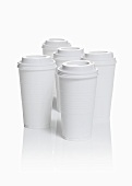 Several plastic coffee cups