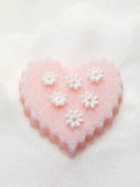 Pink sugar heart with flowers