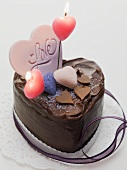 Chocolate cake with candles