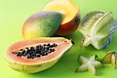 Papaya, mango and starfruit (to regulate the acid-base balance)