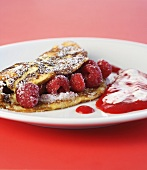 Viennese raspberry omelette