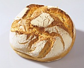 Round wheat and rye bread