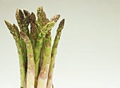 Green asparagus with drops of water