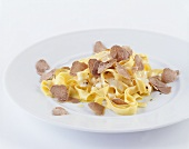 Tagliatelle with black truffles