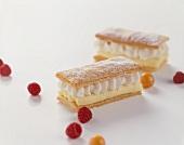 Cream slice (puff pastry)