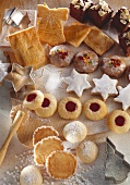 Various types of biscuits for Christmas