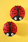 Ladybird cupcakes from above