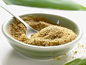 Cane sugar in dish