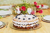 Blueberry cake for someone's birthday