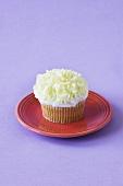 Vanilla Cupcake with White Chocolate Curls