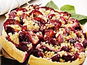 Plum crumble tart