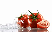 Tomatoes surrounded with water
