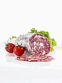 Salami, cherry tomatoes and lollo bionda