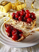 Christmas pie with berries