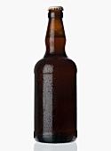 Eine gekühlte Flasche Bier (Ale)