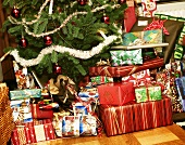 Christmas gifts under Christmas tree (Sweden)