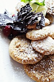 Ginger Cookies with Powdered Sugar