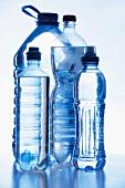 Various plastic water bottles