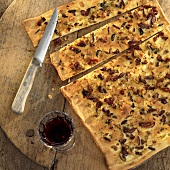 Focaccia olive e rosmarino (Foccaccia with rosemary & olives)