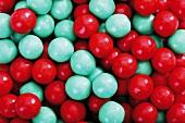 Red and blue gumballs (full-frame)