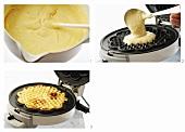 Making waffles