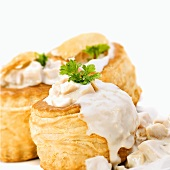 Vol-au-vents filled with ragout fin