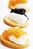 Caviar appetizer, close-up