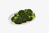 Blanched broccoli on plate