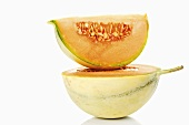 Cavaillon melon, half and a wedge