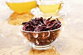 Hibiscus flowers and hibiscus tea