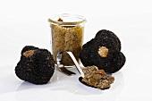 Truffle pesto and black truffles