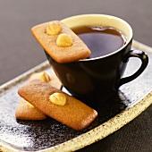 Cinnamon Hazelnut Tea Cookies with a Cup of Tea
