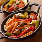 Roasted Vegetables in Cast Iron Skillet