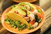 Two Shrimp Tacos with Avocado