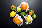 Citrus fruits, elevated view