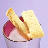 Biscuit in sugar bowl