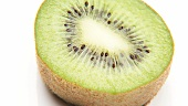 Rotating kiwi fruit half