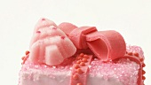 Pink petit four for Christmas