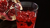 Drink with pomegranate seeds