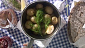 New potatoes with dill & herrings (Midsummer Festival, Sweden)
