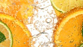 Drink with citrus fruit (detail)
