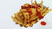Putting ketchup on chips